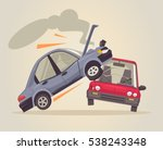 car accident. vector flat... | Shutterstock .eps vector #538243348