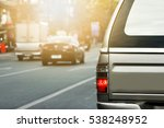 cars on the road heading... | Shutterstock . vector #538248952
