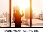 silhouette of success... | Shutterstock . vector #538249186
