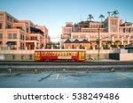 red streetcar line in new... | Shutterstock . vector #538249486