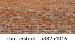 Old Red Brick Wall Wide Textur...