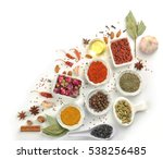 aromatic spices on white...   Shutterstock . vector #538256485