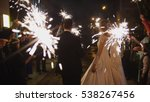 sparkler in hands on a wedding  ... | Shutterstock . vector #538267456