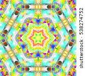 melting colorful kaleidoscopic... | Shutterstock . vector #538274752