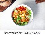 Fresh Vegetable Salad And Brea...