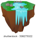floating island with falling... | Shutterstock .eps vector #538275322