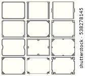 decorative simple frames  set 8  | Shutterstock .eps vector #538278145