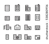building line icon set | Shutterstock .eps vector #538280956