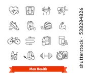 fitness   men health. thin line ... | Shutterstock .eps vector #538284826