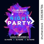 night party promo flayer with... | Shutterstock .eps vector #538288786