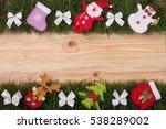 christmas frame made of fir...   Shutterstock . vector #538289002