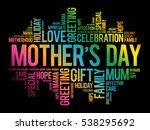 mother's day word cloud  care ... | Shutterstock .eps vector #538295692