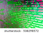 Small photo of Source code close-up. Website programming code. Software abstract background. Programmer developer screen. Modern tech. Computer science lesson. Server logs analysis. SEO concepts for better SERP.