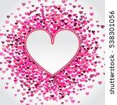 illustration of valentine's day ... | Shutterstock . vector #538301056