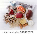 foods of vitamin b12  cobalamin ... | Shutterstock . vector #538302322