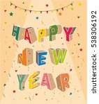 happy new year card design ... | Shutterstock .eps vector #538306192