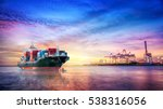 logistics and transportation of ... | Shutterstock . vector #538316056