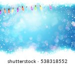 christmas background with... | Shutterstock .eps vector #538318552