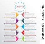 vector infographic templates...   Shutterstock .eps vector #538319788