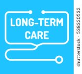 long term care. badge with... | Shutterstock .eps vector #538320532