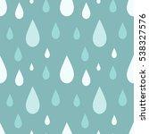 rain blue seamless pattern... | Shutterstock .eps vector #538327576