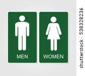 green restrooms sign... | Shutterstock .eps vector #538328236