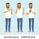 young casual man character...   Shutterstock .eps vector #538333102