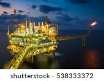 offshore oil and gas central... | Shutterstock . vector #538333372