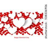heart for valentine's day... | Shutterstock .eps vector #538336906