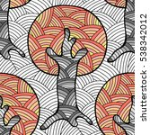 seamless pattern  raster hand... | Shutterstock . vector #538342012