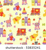 seamless baby background | Shutterstock .eps vector #53835241