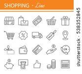 thin lines web icons set   e...