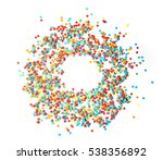 scattered colorful confetti on... | Shutterstock . vector #538356892