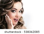 surprised beautiful girl | Shutterstock . vector #538362085