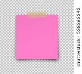 paper sheet  on translucent... | Shutterstock .eps vector #538363342