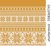 christmas fairisle sweater... | Shutterstock .eps vector #538365745