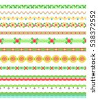 flower borders. collection of... | Shutterstock .eps vector #538372552