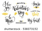 happy valentines day.  set of... | Shutterstock .eps vector #538373152