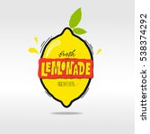fresh lemonade vector... | Shutterstock .eps vector #538374292