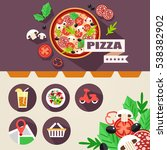 flat layout design for website... | Shutterstock .eps vector #538382902
