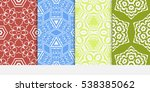 set of abstract decorative... | Shutterstock .eps vector #538385062
