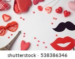valentine's day background with ... | Shutterstock . vector #538386346