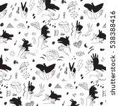 shadow fingers hands vector... | Shutterstock .eps vector #538388416
