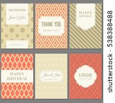 template collection in vintage... | Shutterstock .eps vector #538388488