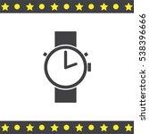 hand watch vector icon.... | Shutterstock .eps vector #538396666