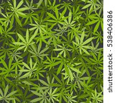 marijuana leaves seamless... | Shutterstock . vector #538406386