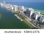 aerial image miami beach... | Shutterstock . vector #538411576
