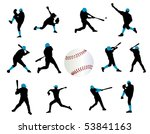 baseball players | Shutterstock .eps vector #53841163