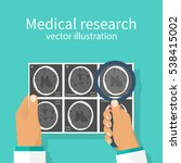 medical research concept. ct... | Shutterstock .eps vector #538415002