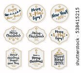 christmas label set consisting... | Shutterstock .eps vector #538415215